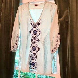 MudPie Light Blue Beach Cover Up